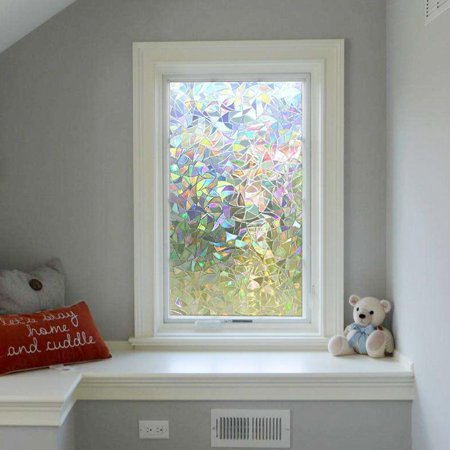Yosoo 3D Static Decorati,Window Film Non Adhesive Frosted Privacy Window Film Self Static Cling Vinly Window Film - image 7 of 8