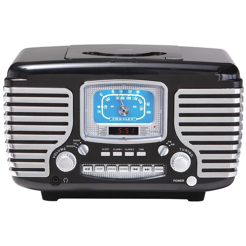 Crosley Corsair Retro Style AM_FM Clock Radio Dual Alarm ...