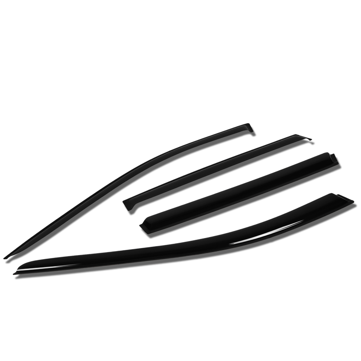 For 14-17 Nissan Rogue 4pcs Window Vent Visor Deflector Rain Guard (Dark Smoke) 15 16