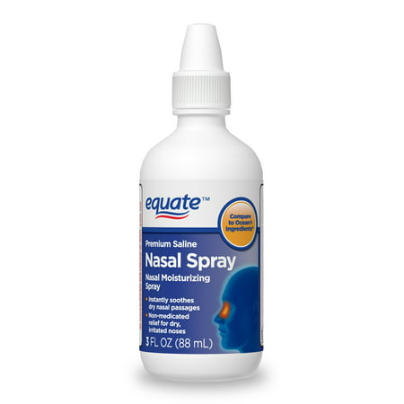 Equate Premium Saline Nasal Moisturizing Spray, 3 FL OZ (Saline Spray)