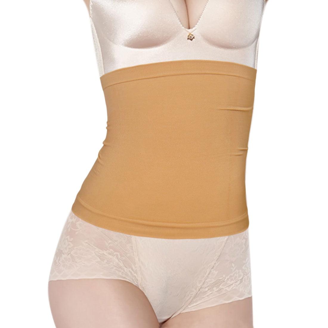 9052764c74 Women s Circle Pattern Stretchy Seamless Waist Cincher Beige (Size ...
