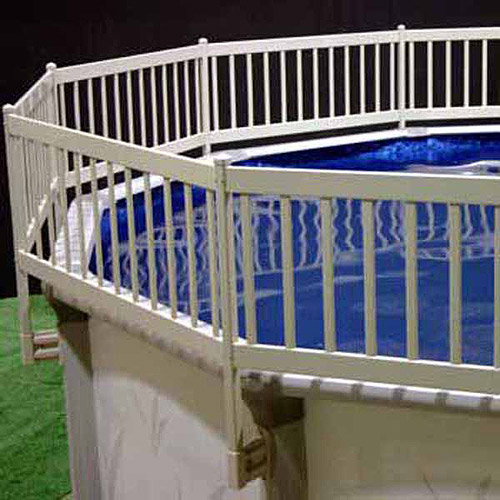Vinyl Works Above-Ground Pool Fence Kit, Taupe