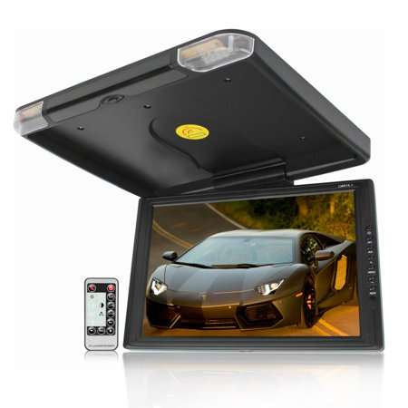 LEGACY LMR15.1 - High Resolution TFT Roof Mount Monitor w/ IR Transmitter & Wireless Remote Control ()