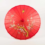 "Quasimoon 32"" Red Cherry Paper Parasol Umbrella by PaperLanternStore"