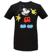 Disney Mickey Mouse Black Out Licensed Men's T-shirt (Small)