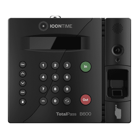 TotalPass B600 Biometric Fingerprint Time Clock (Best Time Clock System)