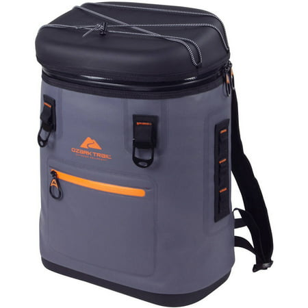 Ozark Trail Premium 20 Can Backpack Cooler, Gray