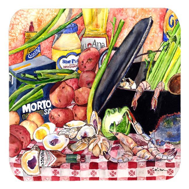 Carolines Treasures 8825-1FC Gumbo And Potato Salad Foam Coasters, Set Of 4 - image 1 of 1