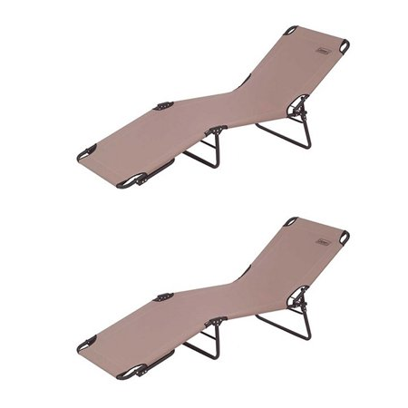 2 COLEMAN Converta Convertible Cots - Outdoor Camping Yard/ Garden Lounge Chairs