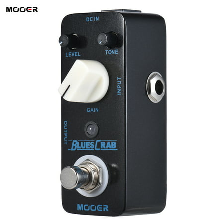 MOOER BLUES CRAB Blues Overdrive Guitar Effect Pedal True Bypass Full Metal