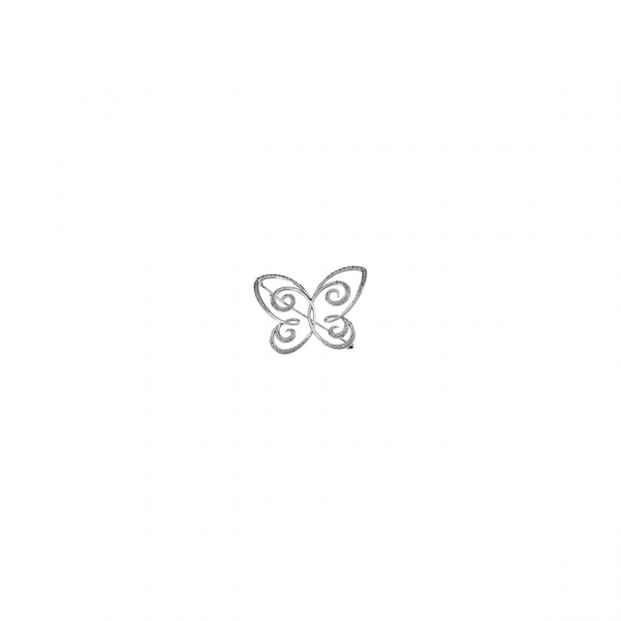 Diamond Butterfly Brooch 64384   14Kt White   1 2 Cttw   Polished   Diamond Brooch by Midwest Jewellery
