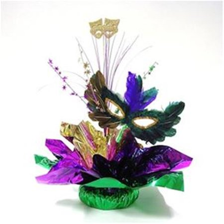 Awesome Events MGR12Q Masquerade Centerpiece, 2 Pack - Masquerade Centerpiece