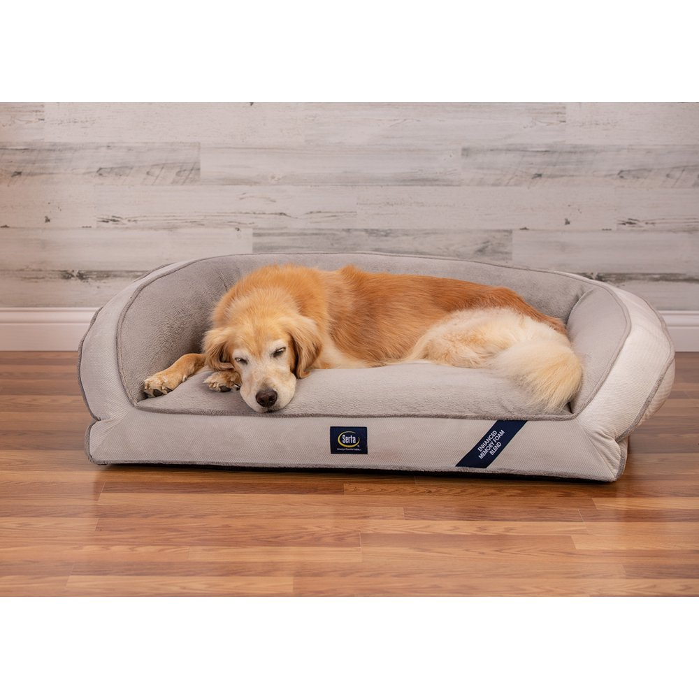 """SertaPedic Memory Foam Couch Extra Large Dog Bed, 44""""x 30"""""""