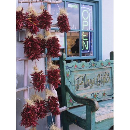 Traditional Ristras in Old Town Albuquerque, New Mexico, USA Print Wall Art By Jerry