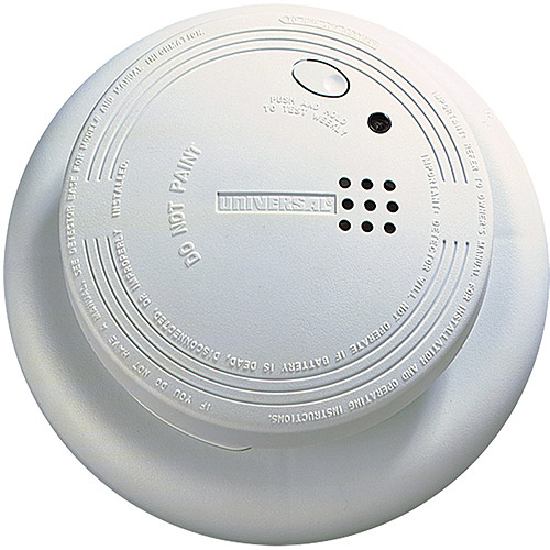 Universal Security Instruments SS-901-LR-6P 9V Photoelectric Smoke and Fire Alarm with Larger Mounting Bracket