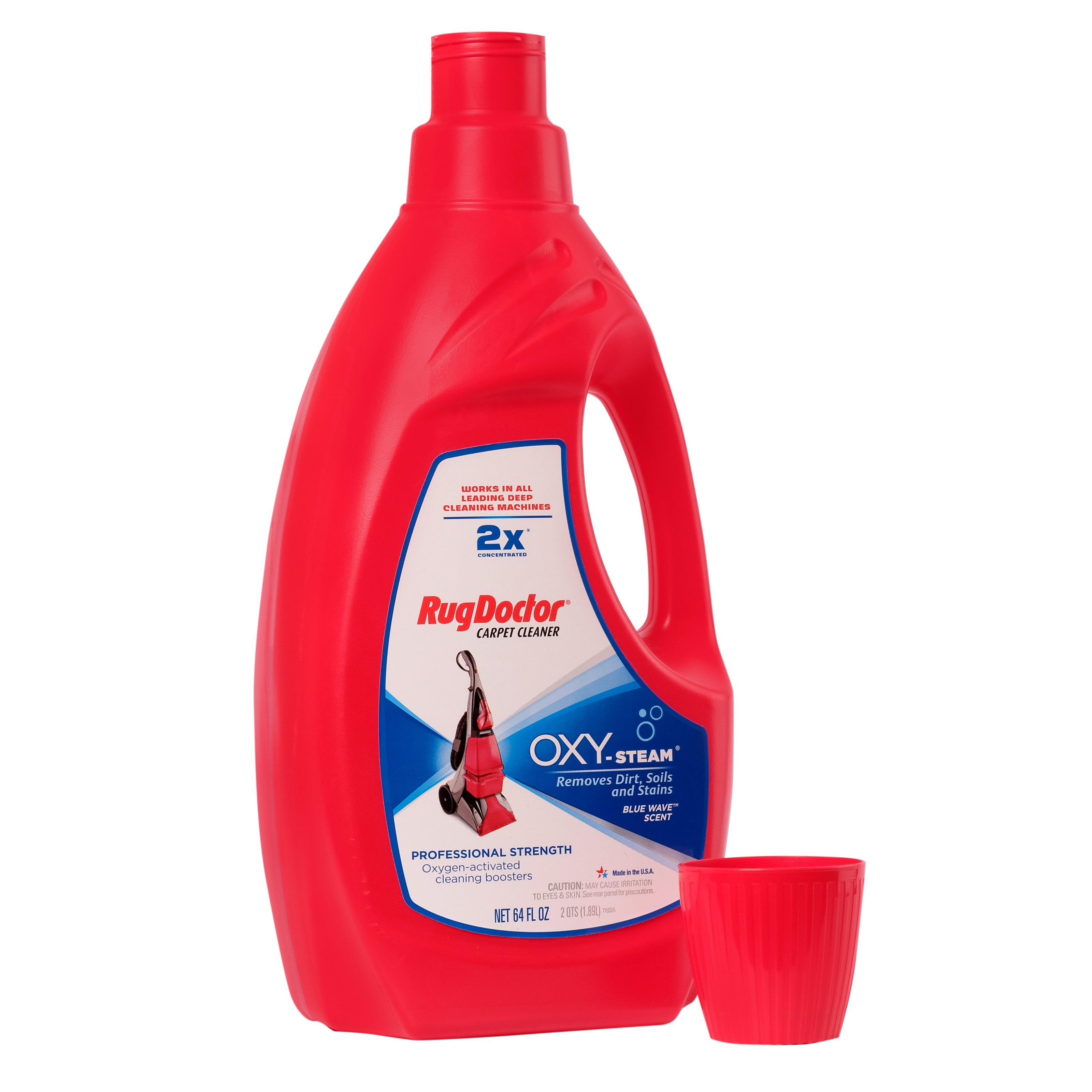 Rug Doctor Oxy Steam Carpet Cleaner Solution 64 Oz Powerful Effective Super Concentrated Solution Formulated With Oxygen Activated Cleaning