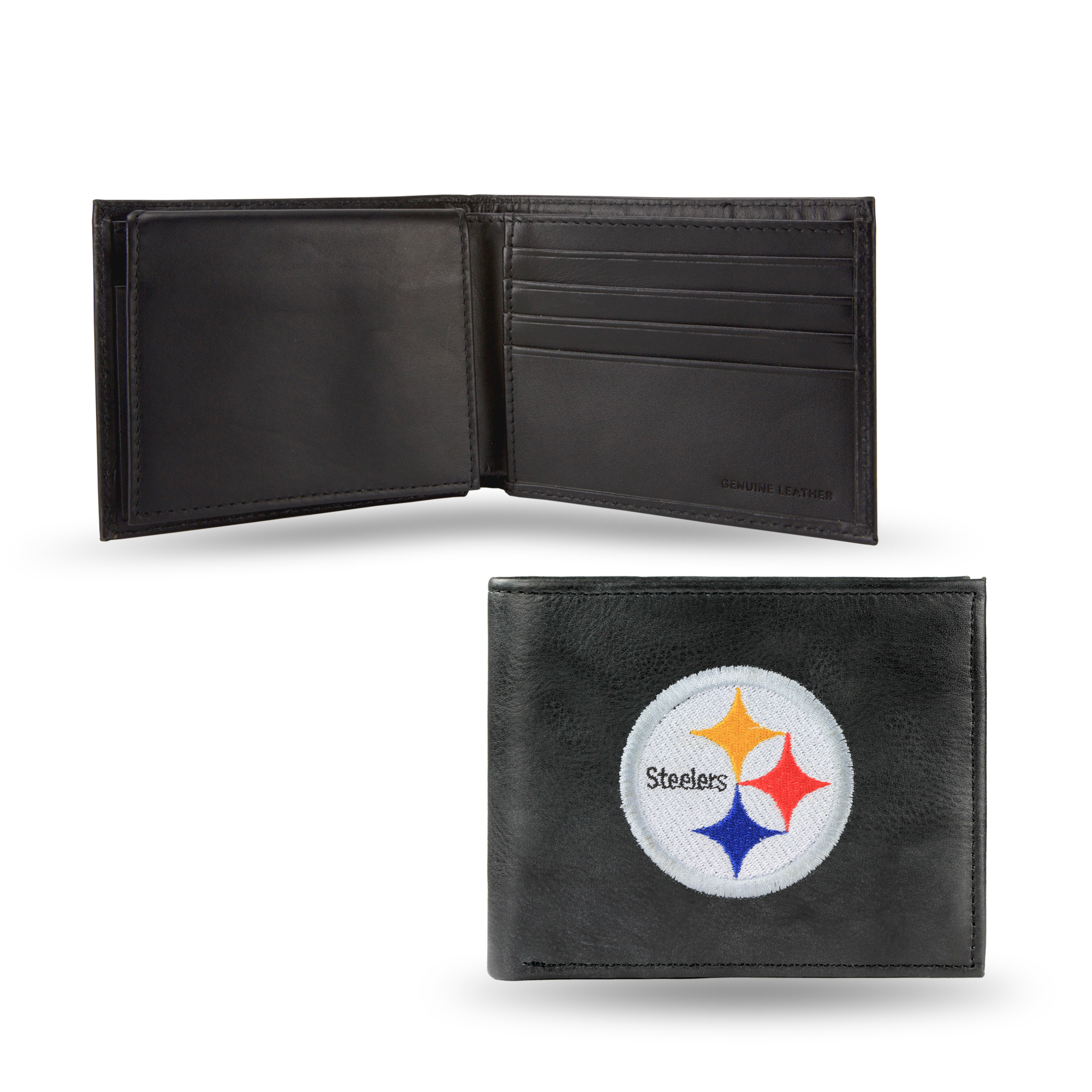 NFL Men's Pittsburgh Steelers Embroidered Billfold Wallet by Rico Industries