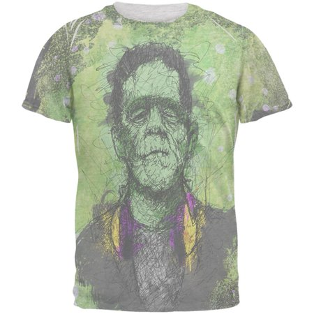 Halloween Frankenstein Raver Horror Movie Monster Men's Soft - Halloween Art Frankenstein