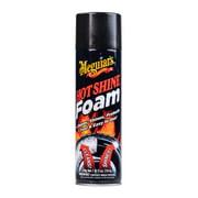 Meguiar's Hot Shine Tire Foam Aerosol Tire Shine for Glossy, Rich Black Tires, G13919, 19 oz