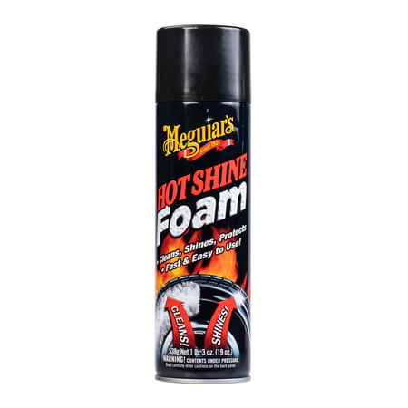 Aerosol Foam (Meguiar's Hot Shine Tire Foam â Aerosol Tire Shine for Glossy, Rich Black Tires â G13919, 19)