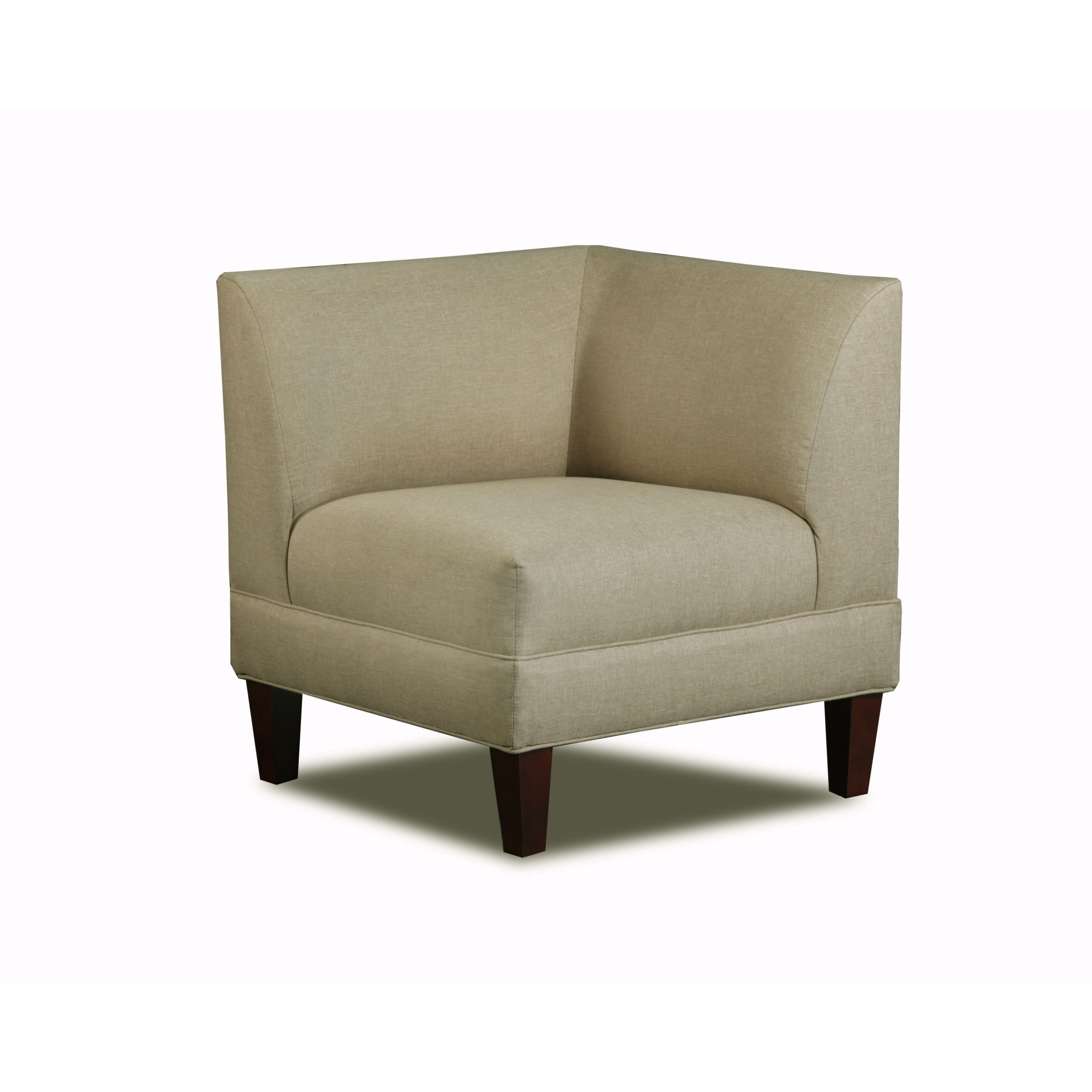 Carolina Accents Briley Sand Corner Chair by Overstock