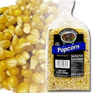Walnut Creek Foods- POPCORN - UNPOPPED (LADYFINGER HULLESS 2 lb)