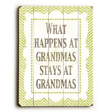 One Bella Casa 0004-3642-38 12 x 16 in. What Happens at Grandmas Planked Wood Wall Decor by Misty Diller - image 1 of 1