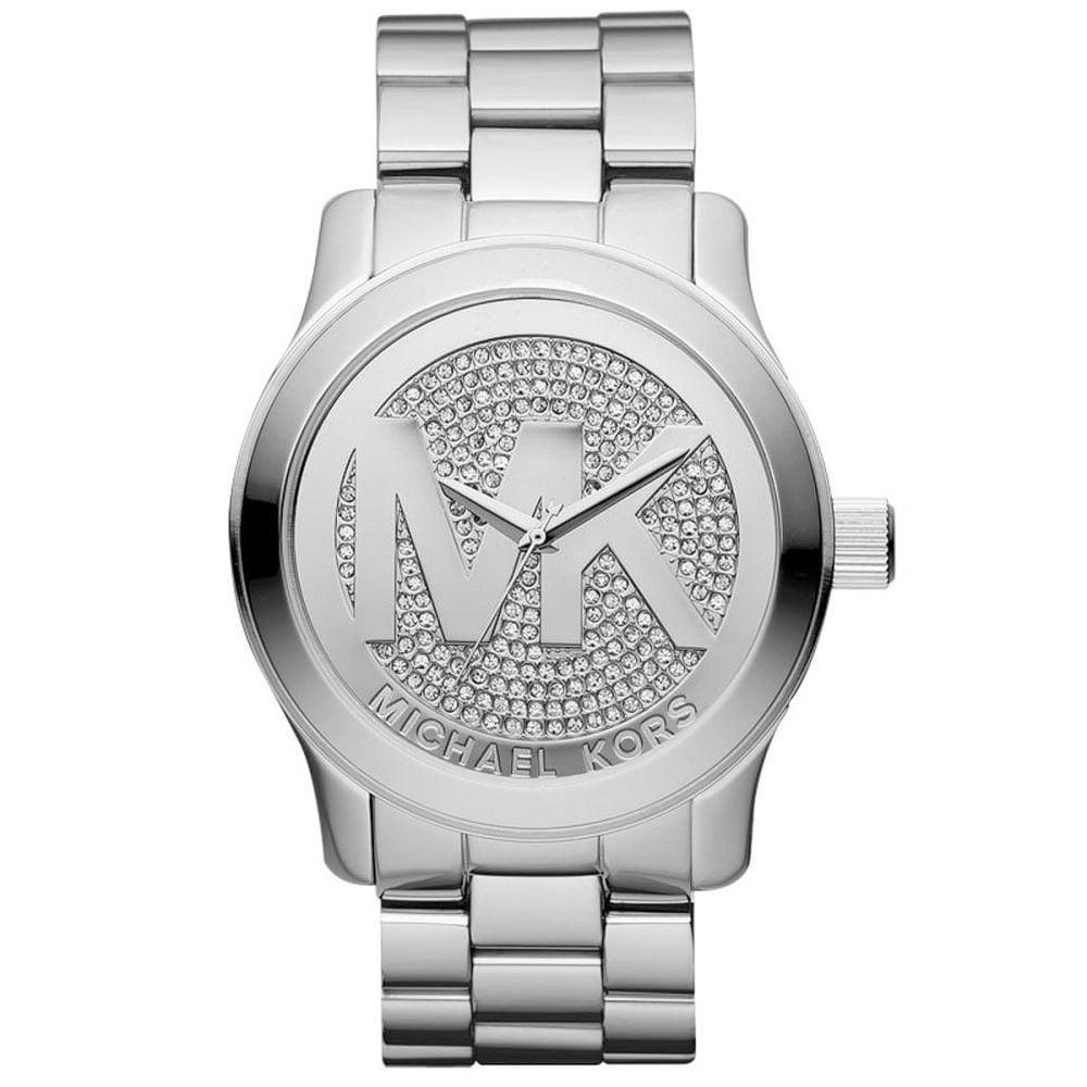 Michael Kors Women's Parker MK5544 Silver Stainless-Steel Quartz Dress Watch