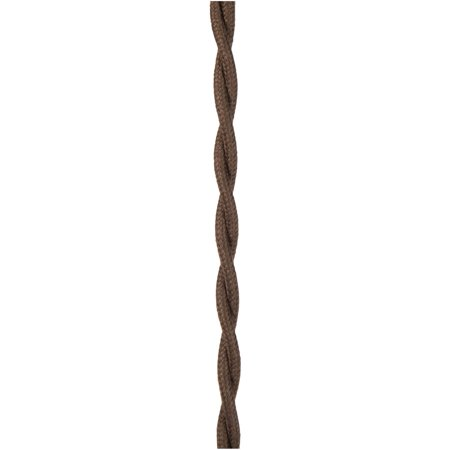Brown Lamp Cord - B&P Lamp Dark Brown Cotton Twisted Pair Lamp Cord
