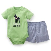 Carters Baby Clothing Outfit Boys 2-Piece Bodysuit Onesie & Short Set