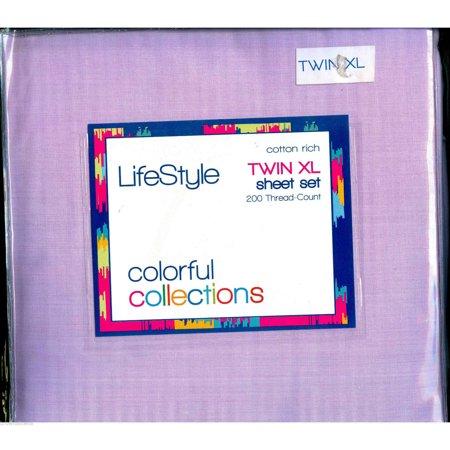 twin extra long sheet sets back to school college dorm sheets lavender. Black Bedroom Furniture Sets. Home Design Ideas
