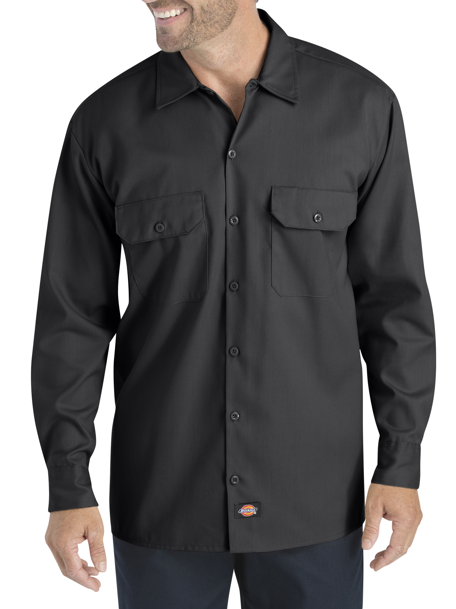 Big Men's Long Sleeve Flex Twill Shirt