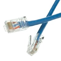 Cable Wholesale 10X6-16102 Cat5e Blue Ethernet Patch Cable & Bootless - 2 ft.
