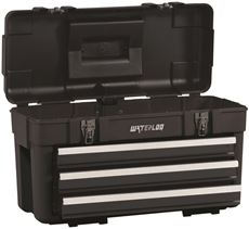 - Waterloo 23 In. Plastic Portable Chest With 3 Steel Drawers
