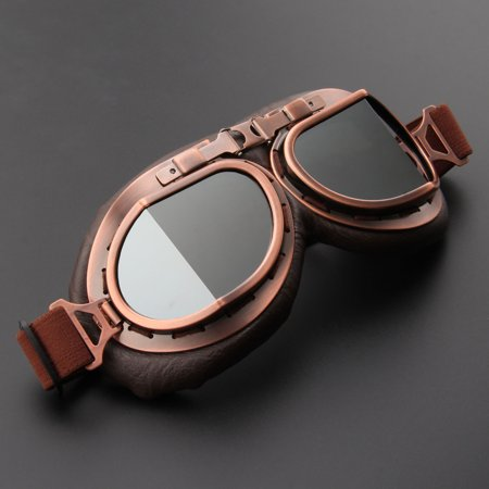 Motorcycle Goggles Glasses Vintage Motocross Retro Aviator Pilot Cruiser ATV UV Protection Goggles - image 2 of 7