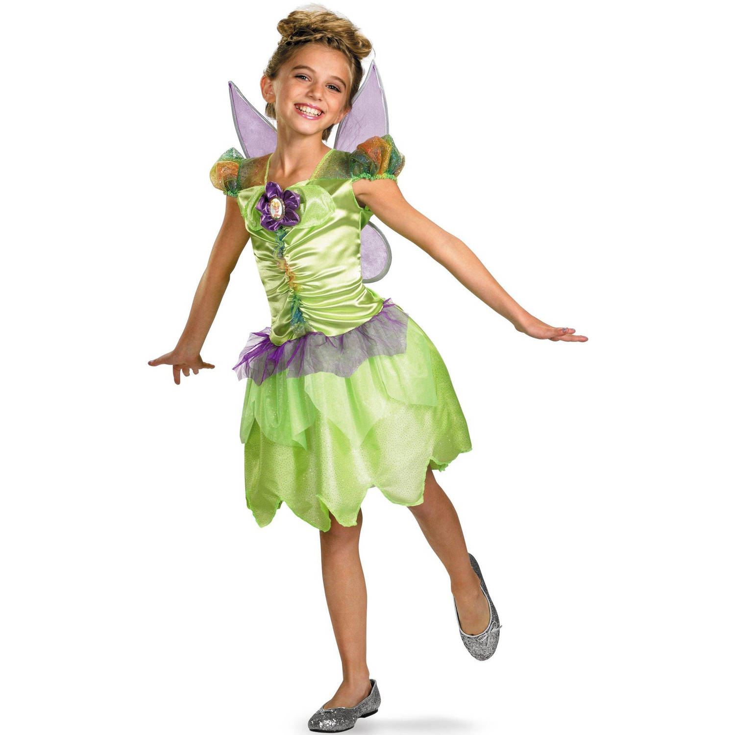 Disney Fairies Tinker Bell Rainbow Classic Toddler Halloween Costume, 3T-4T