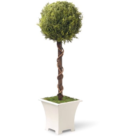 "National Tree Artificial 30"" Single Ball Topiary Tree"