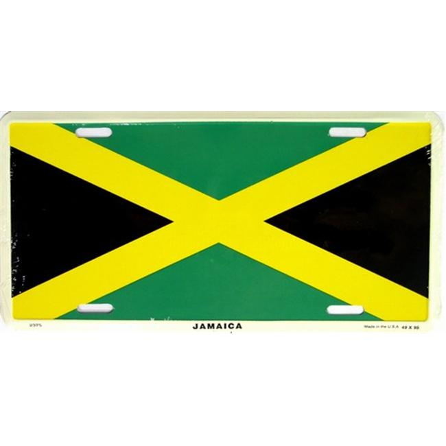 LP - 485 Jamaica Flag License Plate - 2375