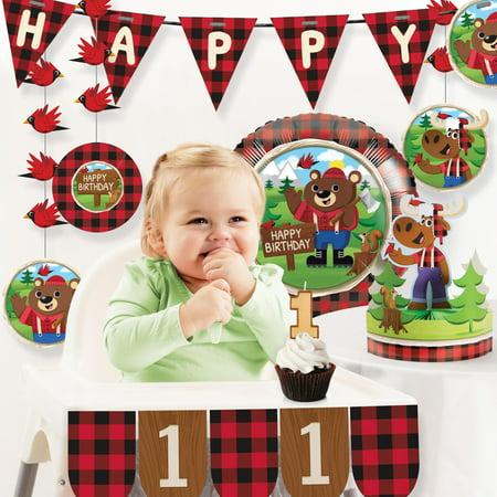 Lum-Bear Jack 1st Birthday Party Decorations Kit - First Birthday Decoration