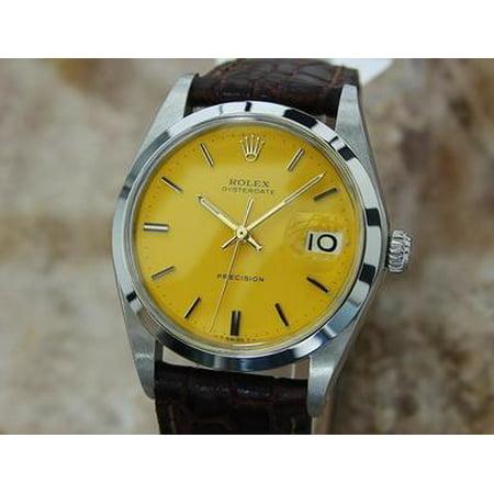 Rolex Oysterdate 1978 Precision 6694 Manual 34mm Vintage Mens Swiss Watch - Watch Halloween 1978