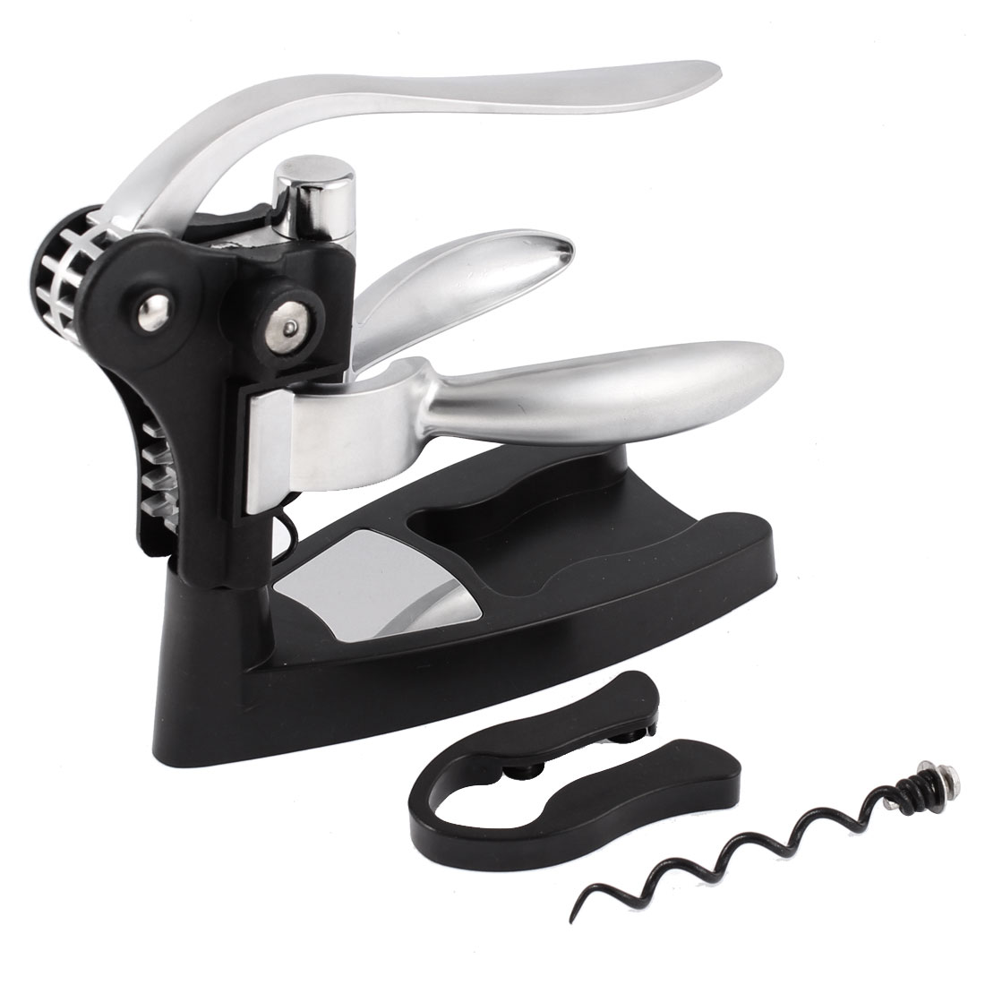 Rabit Head Wine Liquor Bottle Opener Corkscrew Foil Cutter Cork Screw Set Black