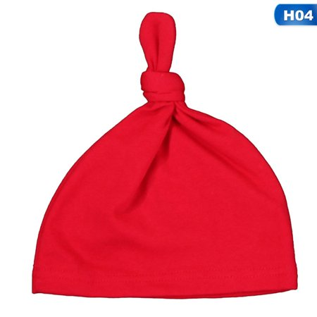 TURNTABLE LAB Fashion Baby Newborn Toddler Infant Boy Girl Cotton Knot Sleep Hat Cap