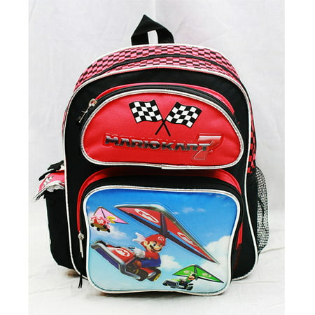Small Backpack - Nintendo - Super Mario & Luigi Kart 7 New School Bag nn10838](Mario And Luigi Girls)