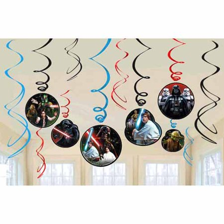 Star Wars 'Classic' Hanging Swirl Decorations (12pc) - Star Wars Decorating Ideas