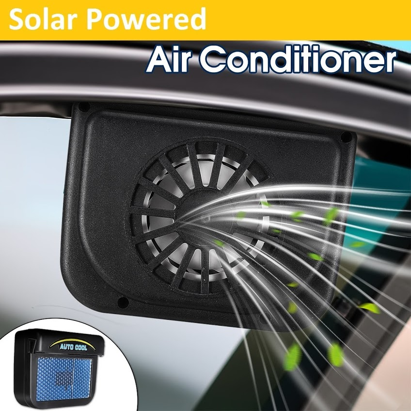 Solar Cool Fan Sun Power Car Auto Air Vent Cool Fan Cooler Ventilation System Radiator