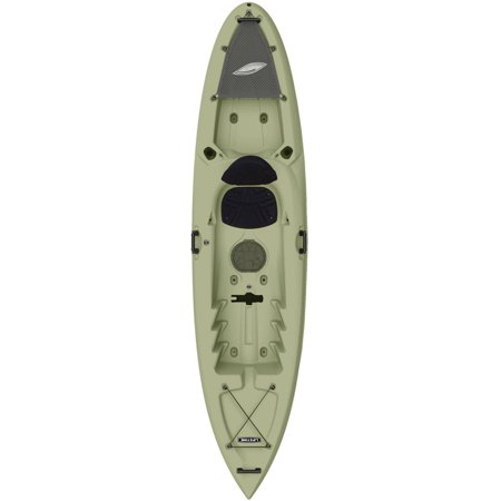 Lifetime Weber 11 Sit On Top Fishing Kayak With Paddle  Light Olive