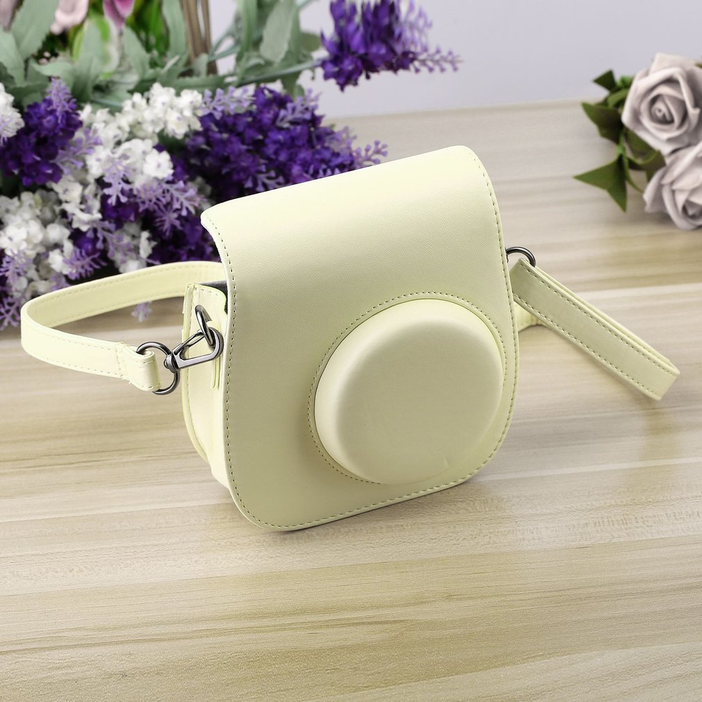 Lovely Leather Camera Shoulder Strap Bag for Polaroid Colorful Case Pouch For Fuji Fujifilm Instax Mini 8 Vintage 5 Colors On Sale