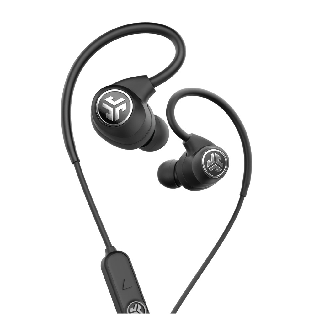JLab Audio Epic Sport IP66 Sweatproof Bluetooth Wireless Earbuds w/ Mic - Black, Open Box