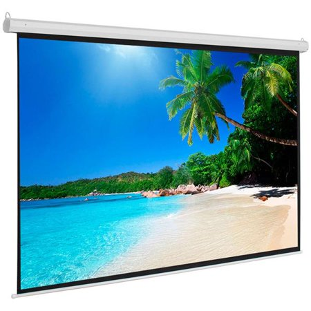Self Trimming Projection Screen (100 inch 4:3 Manual Projector Screen Self-locking Cinema Office Pull Down Projection Screen)