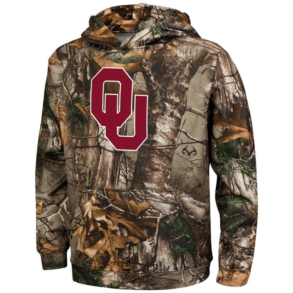 Youth Realtree Xtra Camo University of Oklahoma Sooners Hoodie
